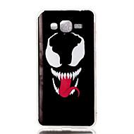 Mert Samsung Galaxy tok Minta Case Hátlap Case Koponya TPU Samsung J5 / J1 / Grand Prime