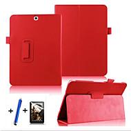 Mert Állvánnyal / Flip / 360° forgás Case Teljes védelem Case Egyszínű Kemény Műbőr Samsung Tab S2 9.7