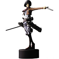 Anime Akciófigurák Ihlette Attack on Titan Mikasa Ackermann PVC 14 CM Modell játékok Doll Toy