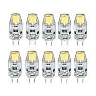 10pcs regulável 1W g4 0705 ra>80 100lm 3000k / 6000k lâmpada de lâmpada de luz branca branca / fria branca (dc12v)