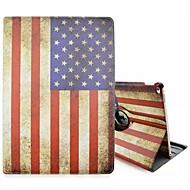 erityinen muotoilu uutuus Amerikan lipun PU nahka folio tapauksessa kotelo 360⁰ iPadille pro