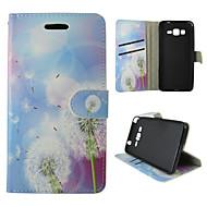 Mert Samsung Galaxy tok Kártyatartó / Pénztárca / Állvánnyal / Flip Case Teljes védelem Case Pitypang Műbőr SamsungTrend Duos / J5 / J1 /
