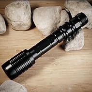 LED zseblámpák LED 4000 Lumen 5 Mód Cree XM-L2 T6 18650 Állítható fókusz Ütésálló Csúszásgátló markolat Újratölthető Vízálló Taktikai