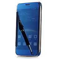 For Samsung Galaxy S7 Edge Belægning Spejl Flip Transparent Etui Bagcover Etui Helfarve PC for Samsung S7 edge S7 S6 edge S6