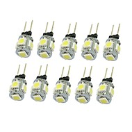 10x g4 gz4 mr11 1,5w 5 led 5050 azul / vermelho / quente branco / verde / amarelo / branco levou luzes interiores lâmpada dc12v