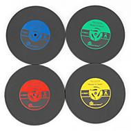 1pcs klasik vinil bardak groovy cd kayıt tablosu bar içecekler fincan mat (ramdon renk)