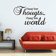 chang dine verden romantikk vegg klistremerker sitat Veggdekor