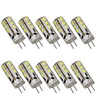 1w g4 LED-lampjes t 24 smd 2835 100-150 lm warm wit / koel wit decoratief dc 12 10 stuks
