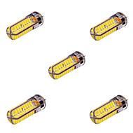 ywxlight® 5 szt G4 10W 72 SMD 5730 800-1000 lm biała ciepła / zimna biel t dekoracyjne doprowadziły światła bi-pin AC / DC 12-24V