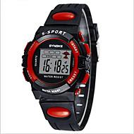 SYNOKE Παιδικά Αθλητικό Ρολόι Ρολόι Καρπού Ψηφιακό ρολόι Ψηφιακό LCD Ημερολόγιο Χρονογράφος Ανθεκτικό στο Νερό συναγερμού Φωτίζει PU