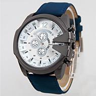 V6 Herren Armbanduhr Quartz Wasserdicht Leder Band Schwarz Blau Braun Grün Schwarz Braun Grün Blau