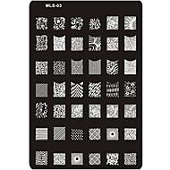 Nail Art Stempelen Plate Stamper schraper 14.5*9.5*0.2cm