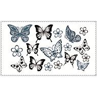 패션 임시 문신 나비 섹시한 바디 아트 방수 문신 스티커 5PCS (크기 : 2.36 ''4.13로 '')