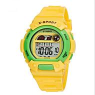 SYNOKE Barn Sportsklokke Armbåndsur Digital Watch Digital LCD Kalender Kronograf Vannavvisende alarm Selvlysende Gummi Band Blå Grønn