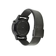 Czarny / Srebrny Stal nierdzewna Klasyczna klamra Na Motorola Zegarek 42mm / 46mm