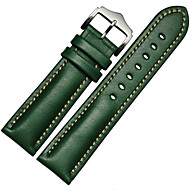Koffie / Rood / Zwart / Groen / Blauw / Bruin Leer / Metaal Sportband Voor Samsung Galaxy Horloge 20mm