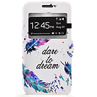 Varten Samsung Galaxy kotelo Korttikotelo / Tuella Etui Kokonaan peittävä Etui Höyhen Kova Tekonahka Samsung J7 / J5 / J3 (2016) / J3