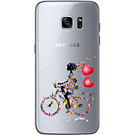 Voor Samsung Galaxy S7 Edge Transparant / Other hoesje Achterkantje hoesje Hart Zacht TPU SamsungS7 edge / S7 / S6 edge plus / S6 edge /