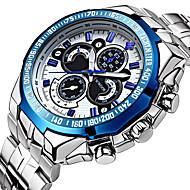 WWOOR 남성 스포츠 시계 드레스 시계 패션 시계 손목 시계 기계식 시계 방수 펑크 야광 오토메틱 셀프-윈딩 스테인레스 스틸 밴드 빈티지 멋진 캐쥬얼 럭셔리 실버