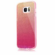 Dla samsung galaxy s7 s7 krawędź jednolity kolor migający niebieskie światło pc tpu akryl potrójny materiał obudowa telefonu