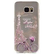 Voor Patroon hoesje Achterkantje hoesje Eiffeltoren Zacht TPU Samsung S7 edge / S7 / S5 Mini / S5