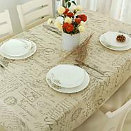 Dikdörtgen Desenli Masa Örtüleri , Linen / Pamuk Karışımı MalzemeOtel Yemek Masası Düğün Ziyafet Yemeği Tablo Dceoration Düğünler Akşam