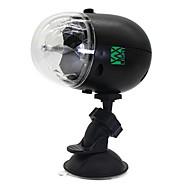 5W Festoon LED Φώτα Σκηνής Περιστρεφόμενη 1 LED Υψηλης Ισχύος 300-400 lm RGBΕνεργοποίηση Ήχου / Επαναφορτιζόμενο / Διακοσμητικό /