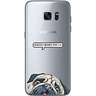 For Ultratyndt / Transparent / Mønster Etui Bagcover Etui Hund Blødt TPU for Samsung S7 edge / S7 / S6 edge plus / S6 edge / S6