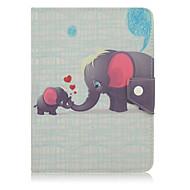 Für Stoßresistent / mit Halterung / Automatischer Ruhe/Aktivmodus / Magnetisch / Muster Hülle Handyhülle für das ganze Handy Hülle Elefant