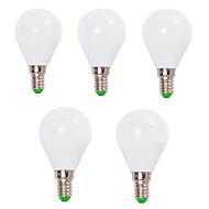 7W E14 / E26/E27 Lâmpada Redonda LED G45 12 SMD 2835 800 lm Branco Quente / Branco Frio Decorativa V 5 pçs