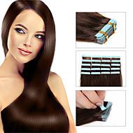 """szalag vetülék emberi haj kiterjesztések 18 """"20"""" 22 """"24"""" 20db csomag zökkenőmentes pu bőr vetülék brazil Remy új haj termékek"""