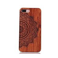 Voor Schokbestendig Reliëfopdruk Patroon hoesje Achterkantje hoesje Mandala Hard Hout voor AppleiPhone 7 Plus iPhone 7 iPhone 6s Plus/6