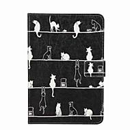 Til Kortholder Lommebok med stativ Flipp Mønster Etui Heldekkende Etui Katt Hard PU-lær til Apple iPad Mini 4 iPad Mini 3/2/1