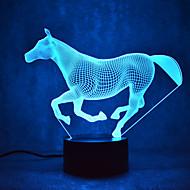 kerstmis paard aanraking dimmen 3D LED 's nachts licht 7colorful decoratie sfeer lamp nieuwigheid verlichting kerstverlichting