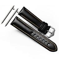 για την ταχύτητα s3 σύνορα κλασικό λουράκι watchband 22 χιλιοστά γνήσιο δέρμα watchband ασφαλή μεταλλικό κούμπωμα αγκράφα άνθρωπος