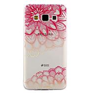 Dla samsung galaxy a3 a5 (2017) pokrowiec na obudowę ukośny wzór kwiatowy kropla lakieru wysokiej jakości tpu materiał obudowa telefonu a3
