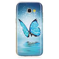 Veske til Samsung Galaxy A3 (2017) A5 (2017) glød i det mørke mønsteret bakdekselslomme Butterfly Soft TPU for A5 (2016) A3 (2016)