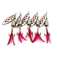 5 szt Przynęta obrotówka Łyżki Przynęta metalowa g/Uncja mm cal Bass Fishing Fishing Lure
