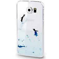 For Samsung Galaxy S6 Veske deksel mønster bakdeksel tilfelle gjennomsiktig dyr Soft TPU