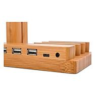 Horloge stand voor appelwatch serie 1 2 ipad iphone 7 6 plus 5 5s 5c houten stand all-in-1 38mm / 42mm met een kabel