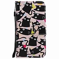 For huawei p10 pluss p10 lite veske deksel kortholder lommebok med stativ flip mønster full kroppsveske katt hard pu lær p10 p8 lite 2017