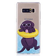 case voor Samsung Galaxy Note 8 telefoon hoesje tpu materiaal hond patroon beschilderde telefoon hoesje