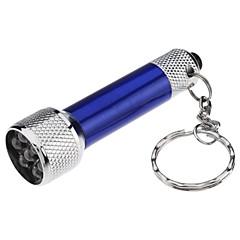Kulcstartó elemlámpák Szuper könnyű Kompakt méret Kis méret Alumínium ötvözet mert LR44 4 * LR44