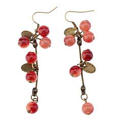 Σκουλαρίκι Κρεμαστά Σκουλαρίκια Κοσμήματα Πάρτι / Καθημερινά Κράμα Γυναικεία Κόκκινο
