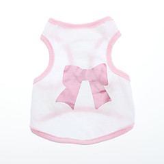Câini Tricou Roz Îmbrăcăminte Câini Vara / Primăvara/toamnă Nod Papion