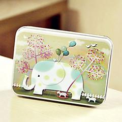 사각형 코끼리 패턴 주석 상자