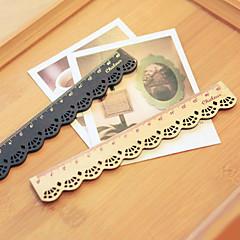 Konstrukcja drewniana linijka koronki (beżowy)