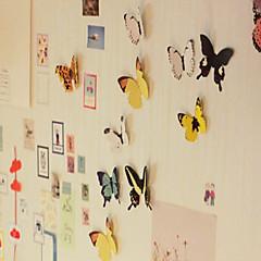 생생하게 나비 디자인 스티커 (15 개, 임의의 색상)