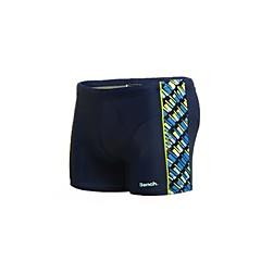 Homens Impressão Nylon Spandex Forrado Borracha Imprimir Logo Boxers Swim Shorts