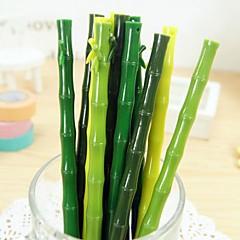 reális bambusz tervezés fekete tintával zselés toll